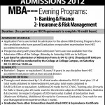 Hailey College MBA Admissions Entry Test and Result 2012