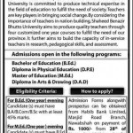 Shaheed Benazir Bhutto University Admissions Open 2013