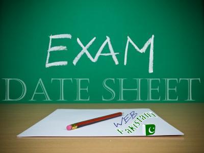Exam Date Sheet