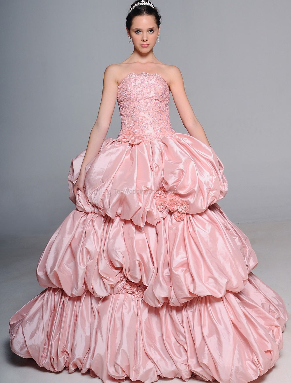 Pink wedding dresses on pinterest pink wedding gowns for Fuchsia dress for wedding
