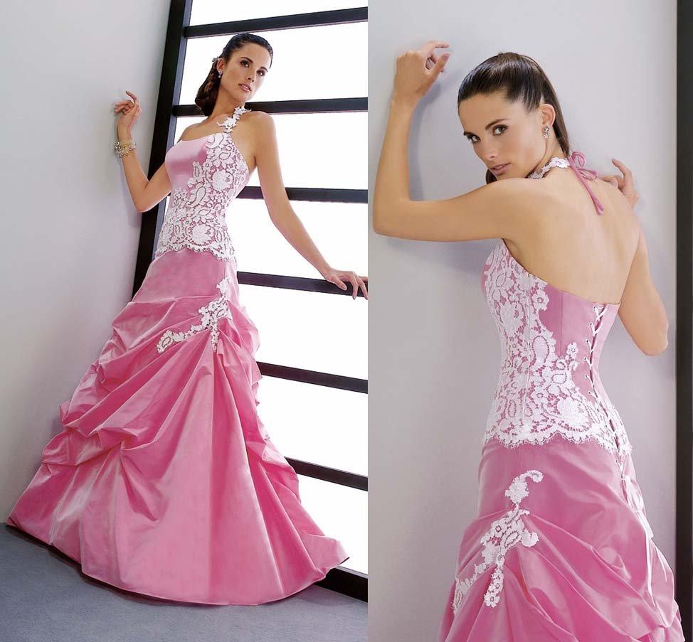 Fashionable Pink Wedding Dresses