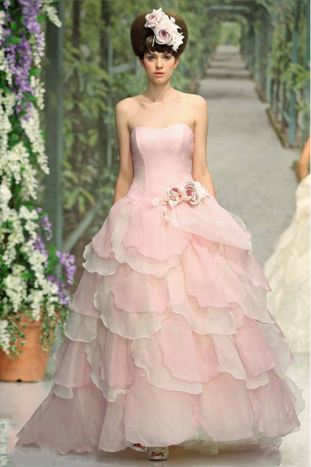 Images Of Pink Wedding Dresses : Pink wedding dresses