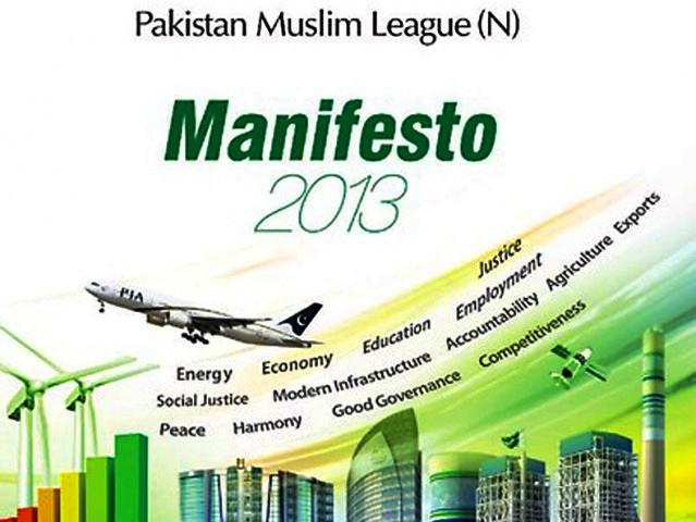 PML-N Election 2013 Manifesto