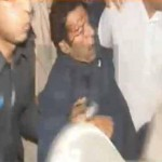 Imran Khan Injured During Lahore Jalsa
