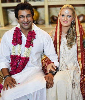 Wasim Akram And Shaniera Wedding