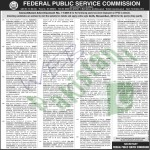 Federal Public Service Commission Islamabad Jobs 2013