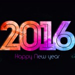 Colorful New Year 2016 Desktop Wallpaper