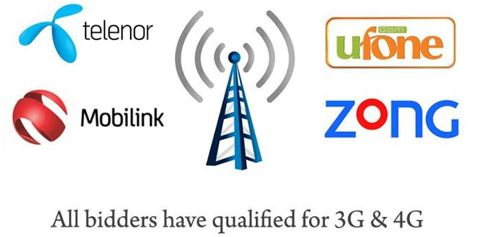 3G-4G Mobilink, Zong, Telenor and Ufone