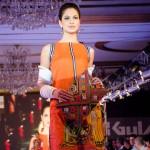 Model Wear Gul Ahmed Orange Dress at The Saffron Night Fashion Show