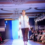 Model Wear Gul Ahmed White & Black Dress at The Saffron Night Fashion Show