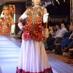 Model Wear Gul Ahmed White Dress at The Saffron Night Fashion Show