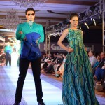 Models Wear Gul Ahmed Green Dress at The Saffron Night Fashion Show