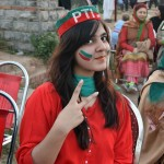PTI Islamabad Jalsa Girls Pictures 30 November 2014