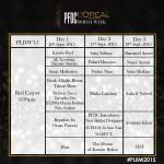 PFDC L'Oréal Paris Bridal Week 2015 3 Days Schedule